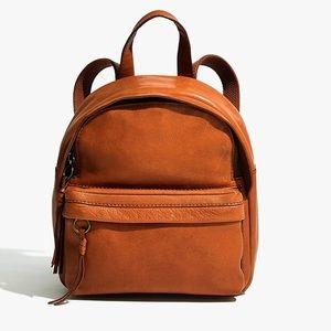 New Madewell The Lorimer Mini Backpack Brown